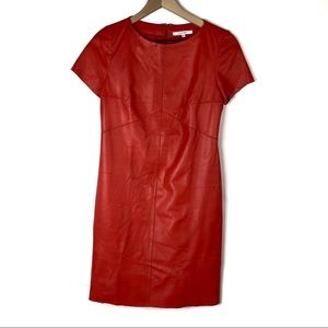CARVEN Buttery Soft Lamb Leather Shift Dress